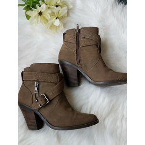 Womens Ankle Booties Sz 6.5